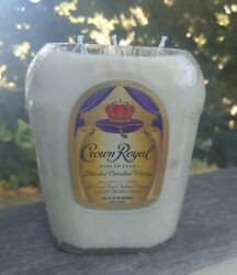 Upcycled Crown Royal Canadian Whiskey Bottle Candle