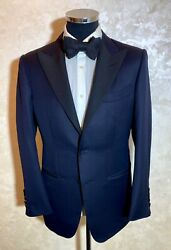 5500 Tom Ford Dark-blue Wool, Mohair 2 Btn Tuxedo Suit Size 48r 38us