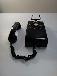 Black Bell Systems Western Electric A/b 554 Rotary Wall Phone, Free Shipping A