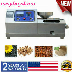 Commercial Electric Screw Oil Press Machine Automatic Walnut Oil Expeller 3000w
