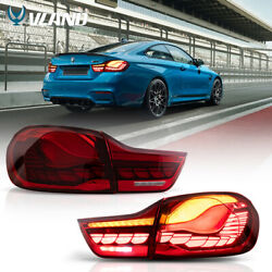 Vland Led Tail Lights Red For 2014-2020 Bmw F32 F33 F36 F82 F83 Gts Oled Style
