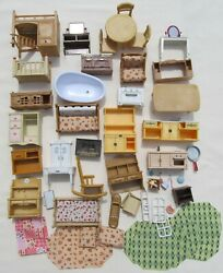 Calico Critters Sylvanian Families Dollhouse Furniture Large Lot