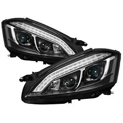 Spyder Auto 5083890 Drl Led Projector Headlights Fits 07-09 S450 S550 S600