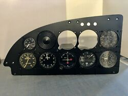 Aircraft Instrument Panel With 7 Instruments. Shock Panel Is 19 1/4andrdquo