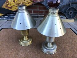 Edward Don And Company Oil Lamps From Railroad Dining Car Lantern