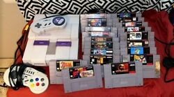 Super Nintendo Console With 15 + Games