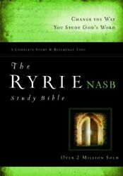 Ryrie Nas Study Bible Hardback Red Letter Ryrie Study By Charles C. Ryrie New