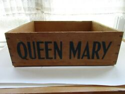 Vintage Cunard -white Star Line Galley Queen Mary Wooden Fruit Produce Crate