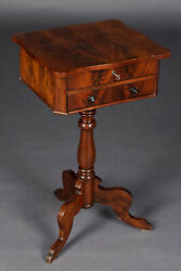 Mahogany Antique Sewing Table Louis Philippe Um 1860