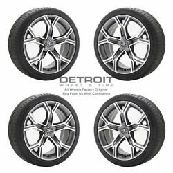 19 Front And Rear Kia Stinger Machined Grey Wheels Rims And Tires Oem Set 4 ...