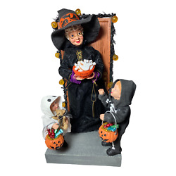 Dept 56 Possible Dreams 2010 Halloween Boo Mrs. Claus Witch W/treat Light-up 🎃