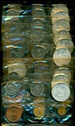 Lot Of 10 Mexico Mint Set Six Coins Sealed And Uncirculated Silver Peso 1964