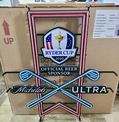2020 Michelob Ultra Beer Pga Ryder Cup Official Beer Sponsor Led Neon New In Box