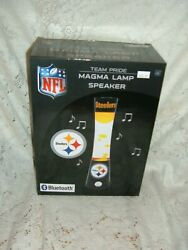 Pittsburgh Steelers Magma Lamp Lava Bluetooth Speaker Game Day Music Tailgate