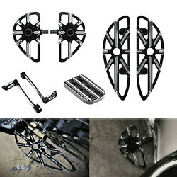 Front Rear Floorboards Brake Pedal Cover Shift Lever Pegs Fit For Harley Touring