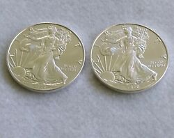 Lot Of 2 2020 American Silver Eagle Dollar - Bu Fresh Out Of The Tube