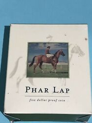2000 5 Proof Coin—70th Anniversary Of Melbourne Cup Winner Phar Lap