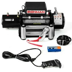 10000 Lbs Electric Recovery Winch 12v Remote Control Waterproof Steel Wire Rope