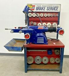 Nice Ammco 4100 Heavy Duty Disc And Drum Brake Lathe W/ Bench And Adapter Kit