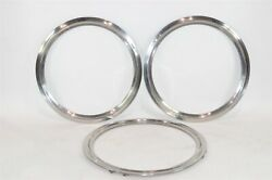 16 Inch Wheel Trim Rings Lot Of 3 Stainless Steel - 1960s To 1970s Ford