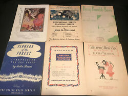 Antique/vintage Lot Of 6 Sheet Music Mermaids, Fireflies, Bumble Bees And More