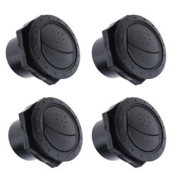 Set Of 4 Marine Yacht Air Conditioning Outlet Ventilation 70x45mm Black