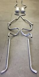 1959-1960 Cadillac Dual Exhaust System 304 Stainless Without Resonators