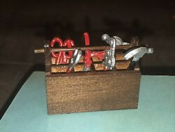 Miniature Dollhouse Set Of 7 Tools 112 Scale Used With Tool Box