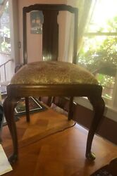 6 Antique Chair Queen Ann /george 1 Style From1900