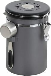 Coffee Canister Airtight Steel Storage Container One Way Valve Coffee Container