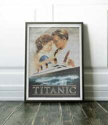 Text Portrait Of Jack And Rose With Full Script Of The Movie Titanic-gift
