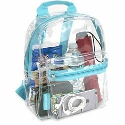 Water Resistant Clear Mini Backpacks For School Beach Stadium Approved Bag $17.77