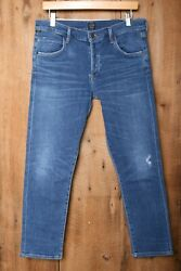 Citizens Of Humanity And039elsaand039 Mid-rise Slim Fit Cropped Stretch Denim Jeans Sz. 30