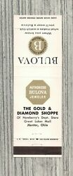 Matchbook Cover-the Gold And Diamond Shoppe Mentor Ohio-bulova Watches-6700