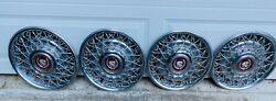 1986-92 Cadillac Fleetwood Brougham Wire Wheelcover Hubcap Set Of 4 Good Shape