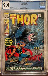 Thor 185 Cgc 9.4 Ow/w - 1st Appearance Of Infinity And The Guardian