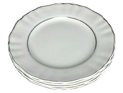 Silver Baroque Sol By Meakin, J And G Lot Of 4 Dinner Plates Staffordshire