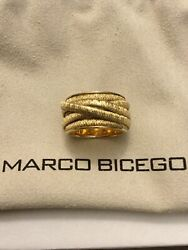 Marco Bicego / The Cairo / Ring 7 Wires / Yellow Gold Size 6.25