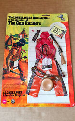 Vintage 70's Marx/gabriel Lone Ranger The Gun Runners Action Figure/outfit Mosc