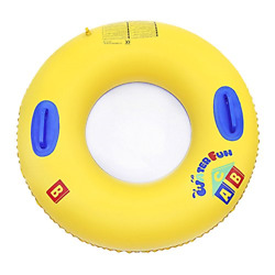 Greenery-gre Inflatable Swimming Ring With Handles 39.3 Inch Swim Pool Float Pvc