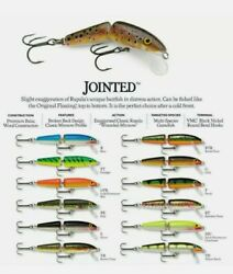 7 Pack Rapala Jointed Floating Fishing Lure J-9