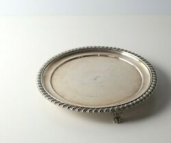 19th Century Indian Colonial Sterling Silver Footed Salver / Dish 1842 Aplandco