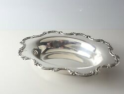Wallace Sterling Silver Oval Vegetable Serving Bowl, With Repousse C-scroll Rim