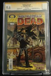 The Walking Dead 1 Cgc 9.6 Image Comics 1st Print With Signed By Kirkman/moore🔥