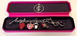 Juicy Couture🎀bow Rhinestone Bracelet With 4 Rare And Limited Edition Charms🎀new