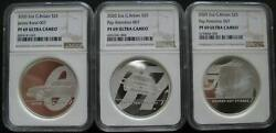 Great Britain Uk 5 Pounds 2020 Silver Proof Coin Bond 007 Complete Set Ngc Pf69