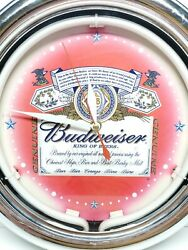 Vintage Budweiser Neon Wall Clock Ace Product Tested No Power Cord