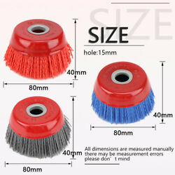 4 Inch 100mm Nylon Filament Abrasive Wire Cup Brush Metal Polishing Rust Removal