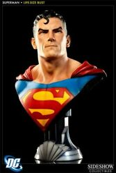 Superman Life Size Bust Sideshow Collectibles / Busto Escala Real