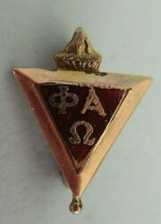 Usa Fraternity Pin Phi Alpha Omega. Made In Gold Filled. Marked, 1357
